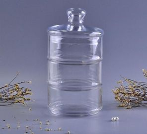 Heritage Hill Clear Airtight Glass Jars , Glass Storage Containers With Lids