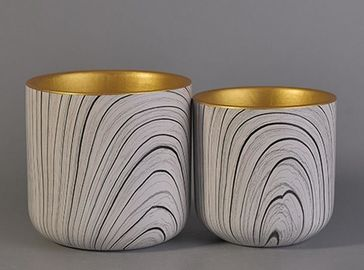 Wedding Decor Ceramic Votive Candle Holders , Empty Ceramic Candle Jar