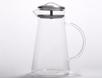 Eco Friendly Modern Clear Glass Teapot Heat Resistant For Home Daily Use